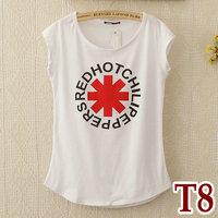 NEW 2014 fashion women girl casual clothing shirts t-shirt tops tee women blouse white color render O-neck fashion slim shirt T8