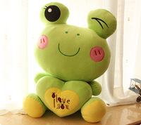 Newest 2014 Cartoon toy  love frog pillow frog cushion animal plush toy  gift toys freeshipping
