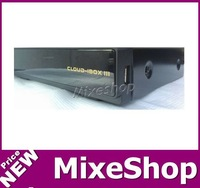 free shipping! HD Receiver Cloud ibox 3 engim2 linux twin tuner S2+T2/C Tuner built-in