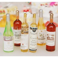 New 2014 Set of 6Pcs Colorful Wine Bottles Dollhouse Miniature 1:12 Scale Classic Toys for Kids Scale Models