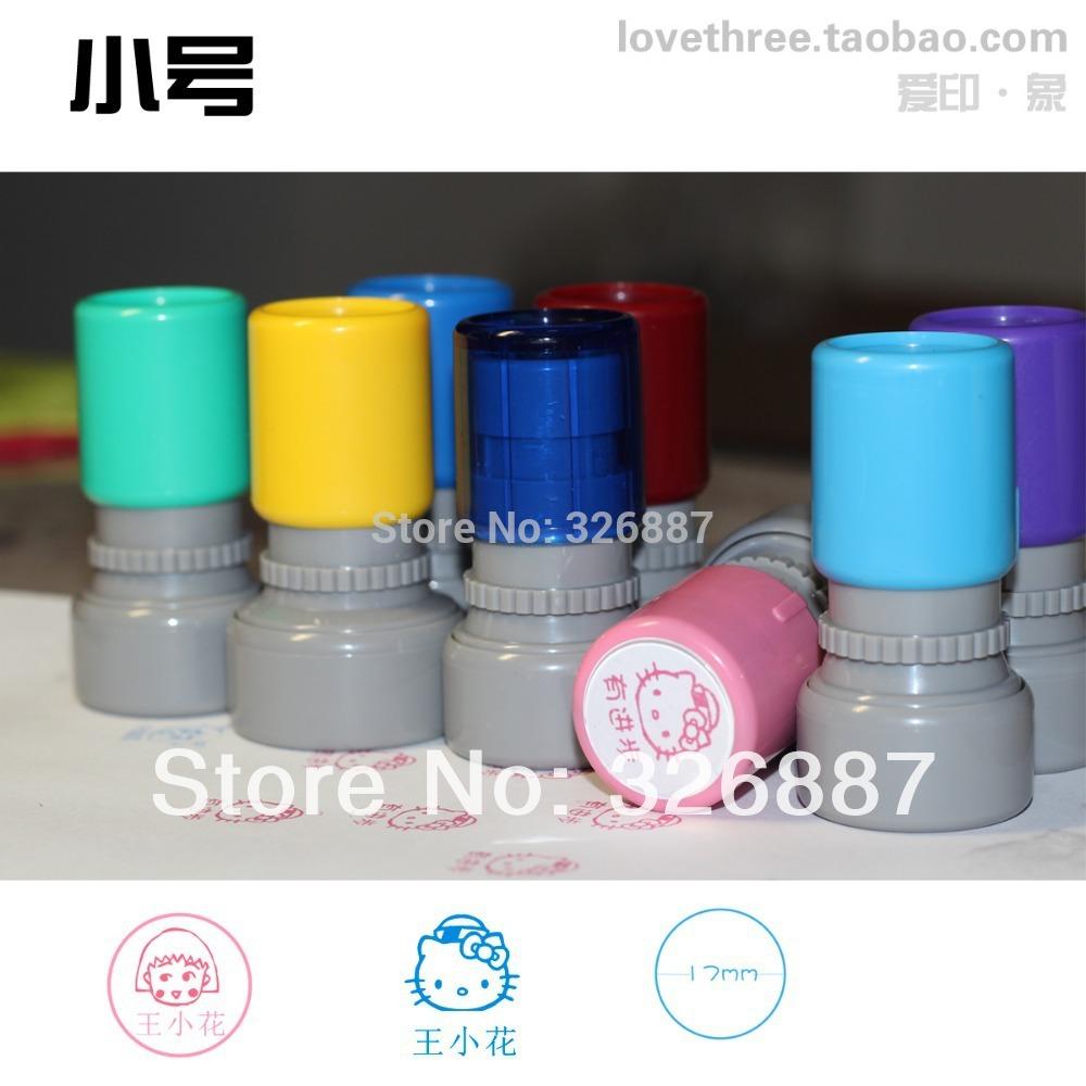 Customized Photosensitive small stamp mark Colorful cartoon birthday name Word for DIY Scrapbooking/Card /Wedding Decoration(China (Mainland))