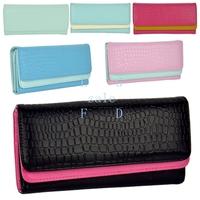 8PCS/LOT New Arrival Elegant Women Wallet Clutch Handbag Checkbook ID Card Holder Coin Pouch 6 Colors 9351
