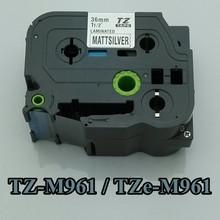 36mmX8m TZ-961,TZe961 For TZ tape TZ961 (TZ-961)  TZm-961 TZe-m961 TZ-e961 TZM961 Compatible P-Touch Tape PT-1000 label maker