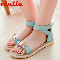 VINLLE 2014 Sandals New Arrival Med High-heeled Wedges Summer Shoes Open Toe Platform casual sandals size  34-43