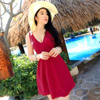 2014 hot spring swimsuit one-piece dress plus size female swimwear 4xl 5xl