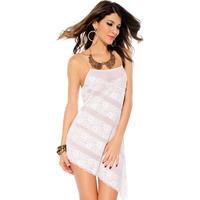 Autumn sexy asymmetrical lace spaghetti strap sleeping hot nightgown 2798