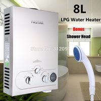 8 LITER LPG / BOTTLE GAS / PROPANE  TANKLESS INSTANT HOT WATER HEATER