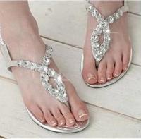 Women's Sandals 2014 Summer Beach Flip Flops Lady Slippers Sandals for Women Diamand Cross Flat Shoes Women Free Shipping KL238
