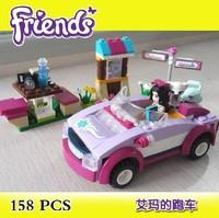 Bela Building Blocks Hot Toy Friends Emma's Car Construction Sets Educational Bricks Toys for Girls Assembling Blocks Gift