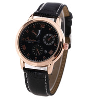 HOT! Hight Quality Quartz Watch Military Sport Single Calendar PU Leather Watch For Men Free Shipping