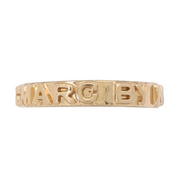 100% authentic,Free Shipping,MMJ Letterpress Ring  gold