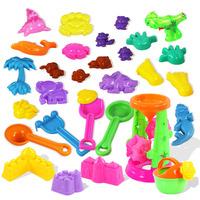 Child beach toy hourglass sand sand tools beach toy set belt water gun Children's toys 30 pc/ 1 set