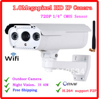 720P Wireless IP Camera Home Security Camera with 40m Night Vision Support ONVIF WIFI IP Camera for outdoor