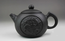 Pure Handmade 140ml Dragon Yixing Purple Clay Teapot Purple grit Kung Fu Tea Pot Xi Shi Tea Set  Wholesale Free Shipping