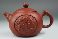 Pure Handmade 140ml Dragon Yixing Purple Clay Teapot Purple grit Kung Fu Tea Pot Xi Shi