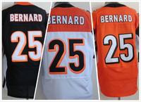Cheap Free Shipping Men's Elite American Football Jerseys Cincinnati # 25 Giovani Bernard Stitched Black Yellow White Jersey