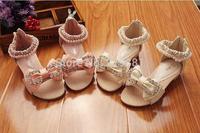 2014 Girl's summer bow sandals , children shoes summer , 5pcs/lot    ZYL13