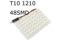 3528 SMD 48 LEDs White LED Light Panel Car Interior Dome Lamp Bulb Vehicle Dome Lighting 10Pcs/lot Free Shipping Wholesale