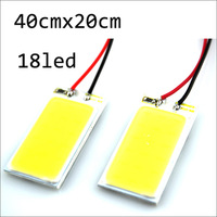 Free shipping Wholesale 10X White 3W COB Chip LED 18 led smd Car Interior Light T10 Festoon Dome Adapter 12V Car LED Panel light