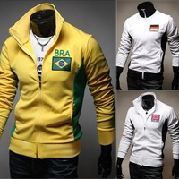 The 2014 Brazil World Cup National embroidery self-cultivation color sweater