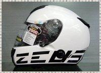 Taiwan  ZS-1200E dual lens carbon fiber motorcycle helmets Black / White