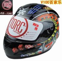 TORC  helmet  V100 motorcycle high-end  helmet triple protective lenses L,/XL