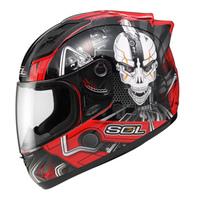 SOL  motorcycle helmet 68s Iron Man motorcycle helmet automobile race helmet