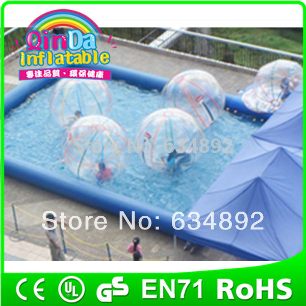 Guangzhou QinDa inflatable latex water park girls swim pools(China (Mainland))