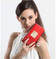 Premium brand Long wallet ladies cowhide leather wallet with women