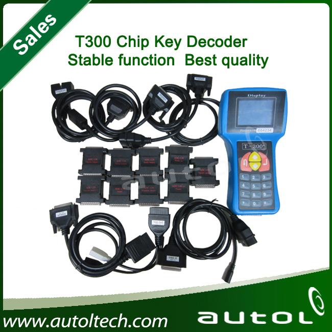 2014 promotion sale T300 key programmer Newest version V13.08 universal car key transponder + DHL Free shipping(China (Mainland))