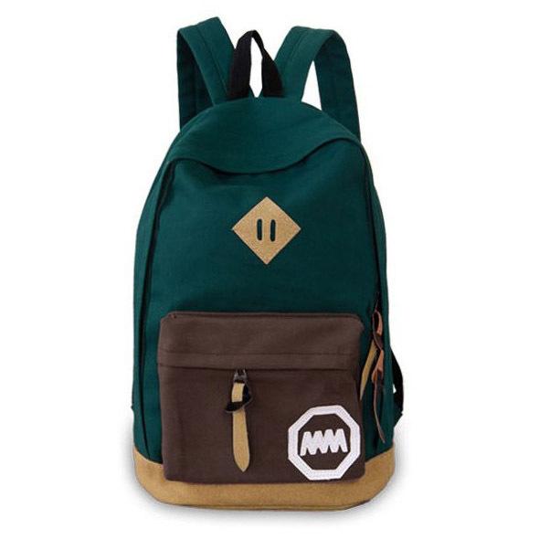 Hot! [6 colors] Canvas Fashion Bags Hot Sale School Bag Women Backpack Women Cheap Price YK80-17(China (Mainland))