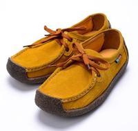 2013 women's autumn shoes flat casual snail shoes genuine leather flat heel single shoes maternity platform shoes