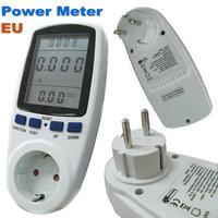 100% Original EU Plug Socket Power Watt Volt Amp Energy Meter Analyzer with Power Factor High Quality Hot Sale