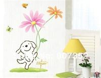 Cute Cartoon PVC Wall Decal Sticker ,free shipping