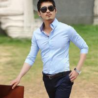 Heilanhome men's summer clothing shirt male slim three quarter sleeve shirt male short-sleeve shirt short-sleeve