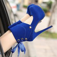 2014 two ways high-heeled shoes fashion platform thin heels single shoes 7341 - 2
