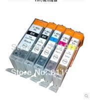 5pcs Free shipping PGI 450BK CLI 451 BK C M Y compatible ink cartridge For canon PIXMA MG5440/ Ip7240/MX924 printers