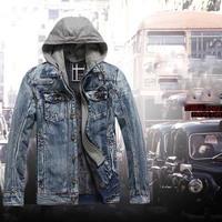 2014 Autumn Winter Men Thicken Denim Jacket  Short Casual Winter Jacket Coat For Mens Plus Size Denim Coat Free Shipping