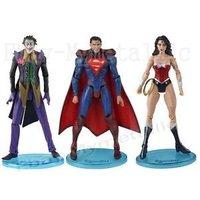 "FREE SHIPPING 3x Heroes Superman Wonder Woman Joker 16cm / 6.4"" PVC Action Figure Toy Set"