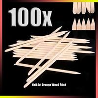 Wholesale nail art pen 400 Pieces/pack Professional Nail Art Pedicure Manicure Tool Teak Wood Stick Dotting Pen