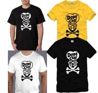 Hot Sale New Summer 2014 Fashion Lovers Skull Bones American Baseball Hiphop Short-sleeve T-shirts Basic Undershirts Cotton Tees