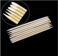 Wholesale nail art pen 1000 Pieces/pack Professional Nail Art Pedicure Manicure Tool Teak Wood Stick Dotting Pen