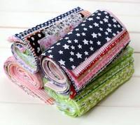 20 Assorted Pre-Cut Charm Cotton Quilt Fabric Fat Quarter Tissue Bundle, 17x25cm
