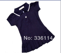2014 new fashion Girls Sports Dress Tennis dress Summer Clothes kids polo design many colors 2-6 Y 5 pcs/lot free shipping