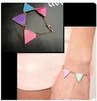 5pcs/lot Fashion accessories vintage caiyou color block triangle bracelet jewelry female A2097