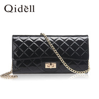 New Fashion 2014 high quality brand patent leather  women chain shoulder bag evening bags Day clutches handbag free shipping