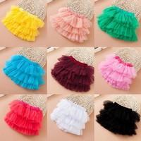 10 colors wholesale children cake skirt  2014 6 layer soft yarn kids dancing skirt girls short ball skirt