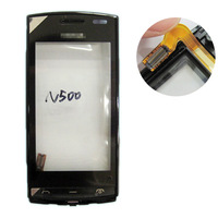 100% New For Nokia 500 Fate Touch Screen Glass Digitizer + Frame free shipping