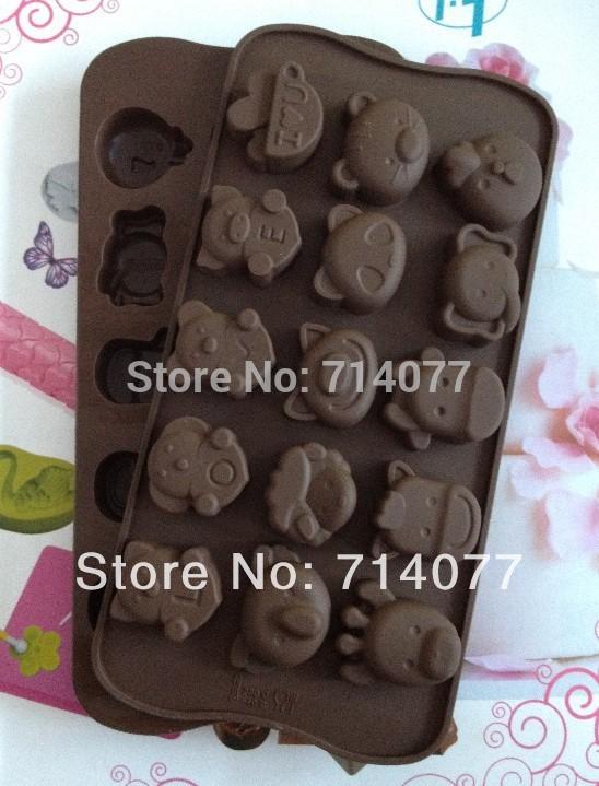 1PCS LOVE Bear shape Muffin Sweet Candy Jelly fondant Cake chocolate Mold Silicone tool Baking Pan DIY L064(China (Mainland))