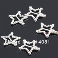 100Pcs five-pointed star diamond buckle Square Wedding Invitation Clear  DIY Rhinestone button